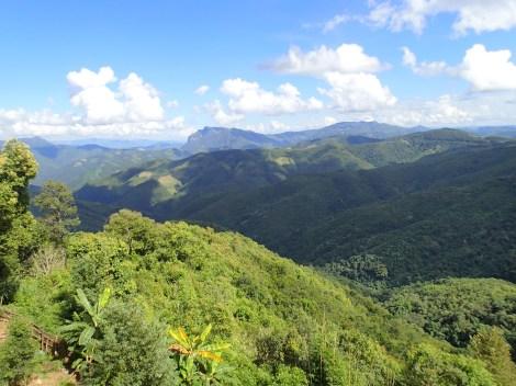 Laos mountain range