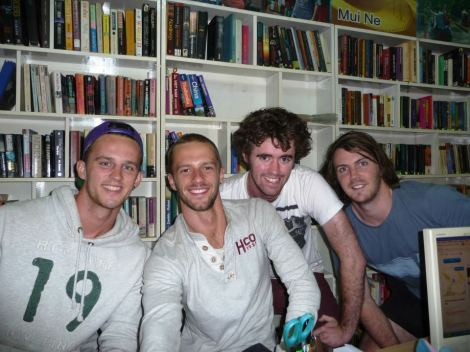 Laurence, Tom, Jack & I @ Adventure Indochina Travel