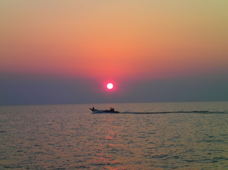 Sunset over the Tonle Sap