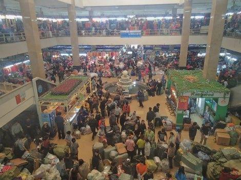 Busy Shopping Centre in Hanoi