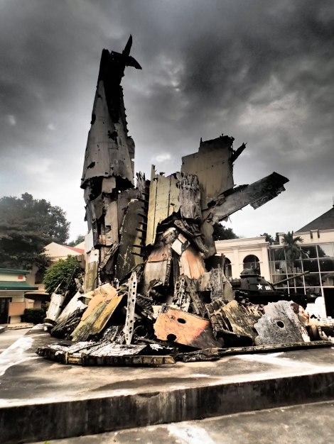 Aircraft Wreckage Sculpture