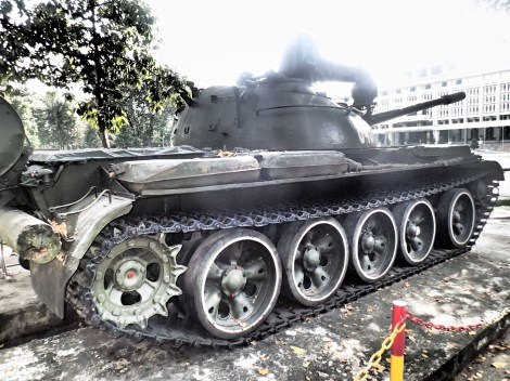 The tank that stormed the gates in 1975