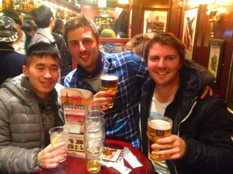 Tim, Tom and I at HUB