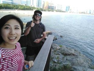 Tangmo and I at Haeundae Beach