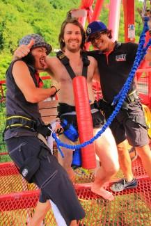 Ryoji, Me and Gusti. My last Bungy Jump