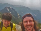 On top of Bukhanan with Seunghwa from CS