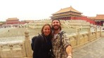 Laura and I inside the Forbidden City