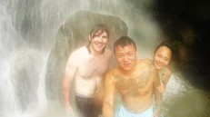 Myself, Bond & Helen @ Yangminshan Hot Spring