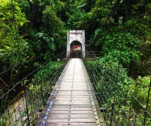 Bridge leading to the Hot Springs