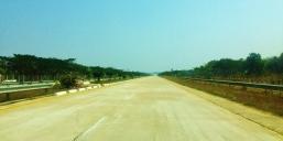 Empty Highway beyween Mandalay and Yangon
