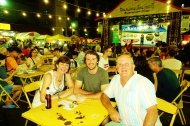 With my parents at Krabi Weekend Night Market