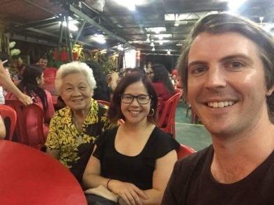 Loz and I with her Malaysian Grandma
