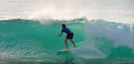 Surfing at Whisky Point